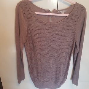 Bead front sweater